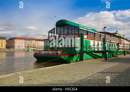 The Admiral Floating Hotel Or Botel Which Is Moored On The