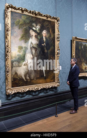 National Gallery, London, UK. 28th Mar, 2017. Following the incident at the National Gallery on 18 March, Thomas - Stock Photo