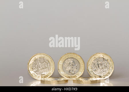 Newcastle upon Tyne, England, UK. Tuesday, 28 March, 2017. New British pound coin is issued. Credit: Andrew Nicholson/Alamy - Stock Photo