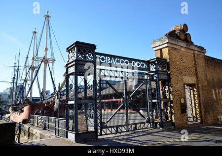 Tobacco Dock in Wapping, east London - Stock Photo
