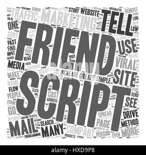 How To Use A Tell A Friend Script To Drive Traffic Today 1 text background wordcloud concept - Stock Photo