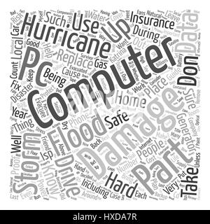 Hurricane Proof Computer text background wordcloud concept - Stock Photo