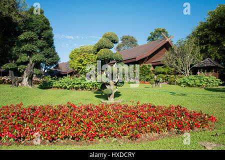 the Doi Tung Royal Villa at the village of Doi Tung north of the ...
