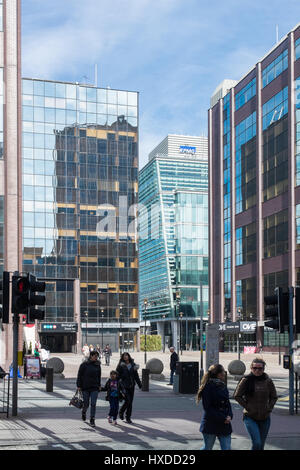 Office buildings at Snow Hill in Colmore Row, Birmingham - Stock Photo