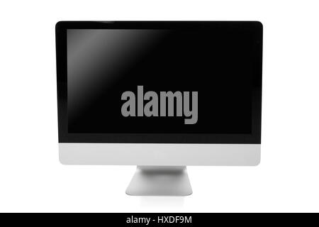 professional desktop pc isolated on white background - Stock Photo
