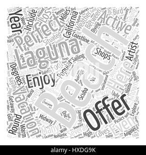 Laguna Beach California Word Cloud Concept - Stock Photo