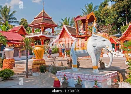 Buddhist temple in Ban Xiang Hai whiskey village near Luang Prabang. - Stock Photo