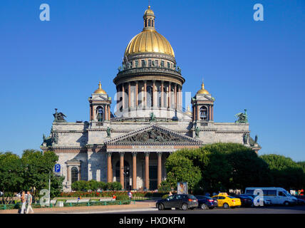 St. Isaac's Cathedral in St. Petersburg, Russia. - Stock Photo