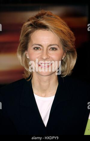 URSULA VON DER LEYEN GERMAN POLITICIAN & MINISTER 18 February 2009 - Stock Photo