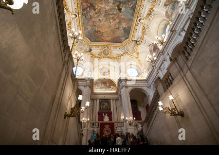 Spain Madrid interior of the Royal Palace of Madrid ...