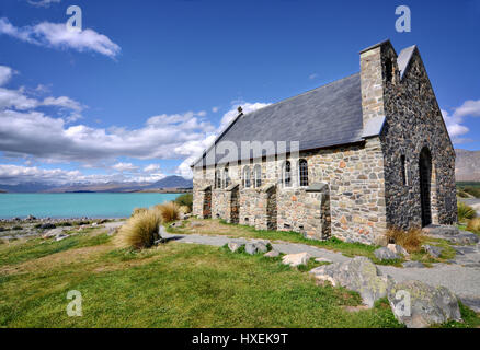 Church of the Good Shepherd, Lake Tekapo, New Zealand - Stock Photo