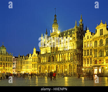 The Kings Palace, Grand Place, Brussels, Belgium. - Stock Photo