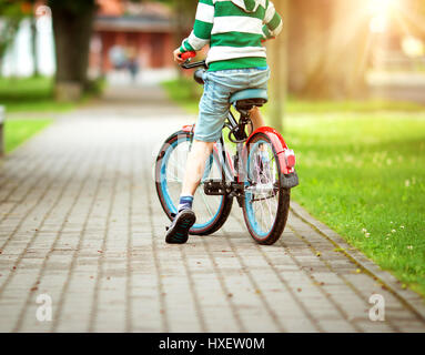 child on a bicycle - Stock Photo