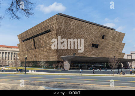 The Smithsonian National Museum of African American History and Culture (NMAAHC) in Washington, DC.