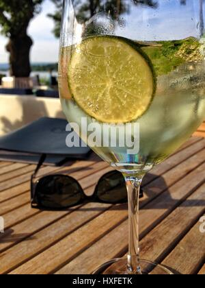 Summer drink hugo - Stock Photo