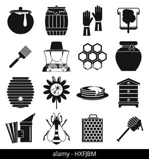 Apiary tools icons set, simple style - Stock Photo