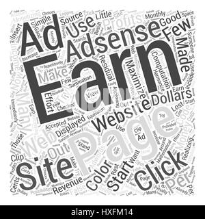 Monetizing Your Website With Adsense Is Profitable Word Cloud Concept - Stock Photo