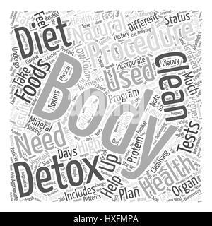 natural body detox Word Cloud Concept - Stock Photo