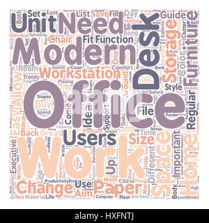 Office Furniture Buyers Guide Text Background Wordcloud Concept