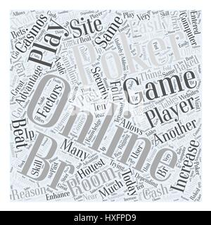 online poker games Word Cloud Concept - Stock Photo