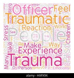 Post Traumatic Stress Disorder PTSD What Is It text background wordcloud concept - Stock Photo