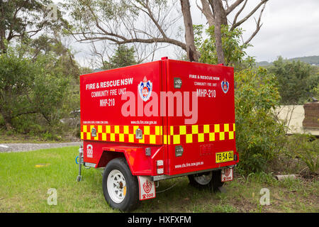 Rural New South Wales community fire fighting equipment unit located in Blue Mountains area,new south wales,australia - Stock Photo