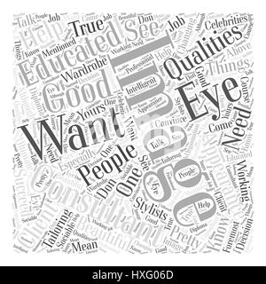 Qualities of a good image consultant Word Cloud Concept - Stock Photo