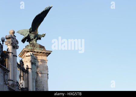 Turul bird in the Royal Castle, Budapest, Hungary - Stock Photo