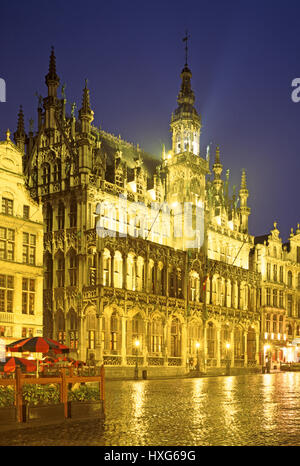 The Kings Palace, Grand Place, Brussels. - Stock Photo