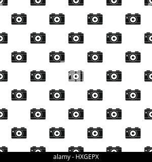 Camera pattern, simple style - Stock Photo