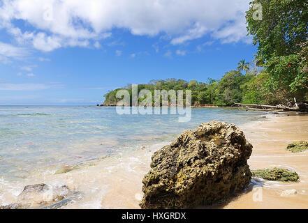 Republic of Trinidad and Tobago - Tobago island - Mt. Irvine bay - Tropical beach of Caribbean sea - Stock Photo