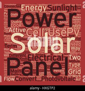 Solar Panels Pvs At Work text background wordcloud concept - Stock Photo