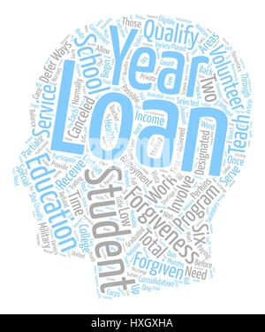 Student Loan Forgiveness text background wordcloud concept - Stock Photo