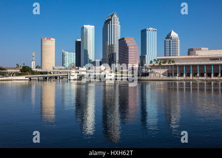 Tampa skyline business district, Florida, USA - Stock Photo