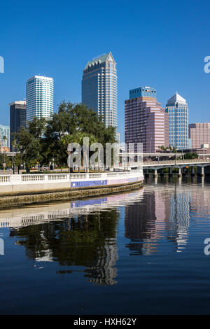 Tampa skyline skyscrapers, Florida, USA - Stock Photo