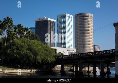 Close up of Tampa CBD buildings, Florida, USA - Stock Photo