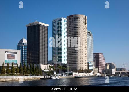 Tampa CBD buildings, Florida, USA - Stock Photo