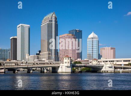 Tampa skyline CBD skyscrapers, Florida, USA - Stock Photo