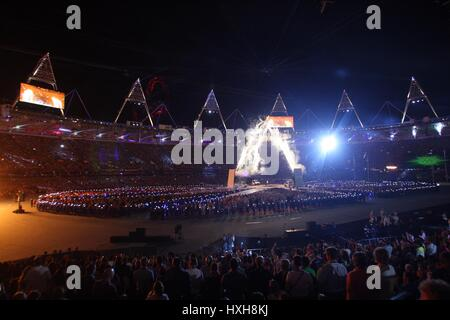 OLYMPIC STADIUM GENERAL VIEW OLYMPIC GAMES CLOSING OLYMPIC GAMES CLOSING CEREMONY STRATFORD LONDON ENGLAND 12 August - Stock Photo