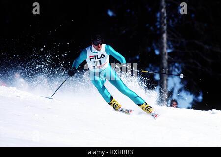 MENS GIANT SLALOM WORLD CHAMPIONSHIPS SWISS 01 February 1987 - Stock Photo