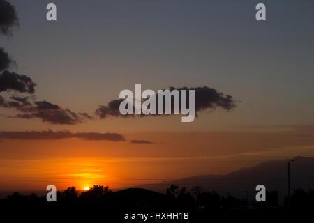 California sunset - Stock Photo