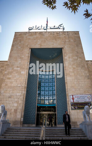 Bank Melli Iran Building, first national Iranian bank in Isfahan, capital of Isfahan Province in Iran - Stock Photo