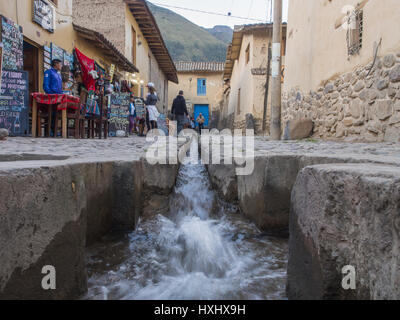 Ollantaytambo, Peru - May 20, 2016: Lode on the street of small town in Peru - Stock Photo