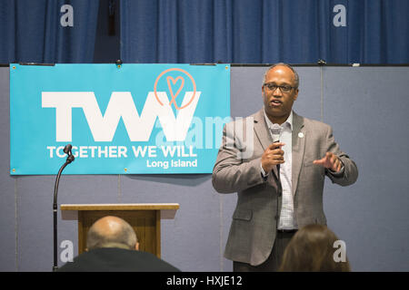 Wyandanch, New York, USA. 26th Mar, 2017. DuWAYNE GREGORY, Presiding Officer and Suffolk County Legislator (Democrat - Stock Photo