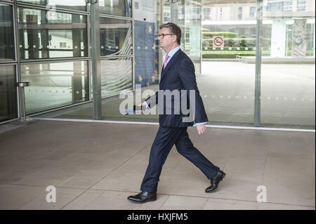 Julian King, European Commissioner for Security Union, British arrives at the start of European Commission college - Stock Photo