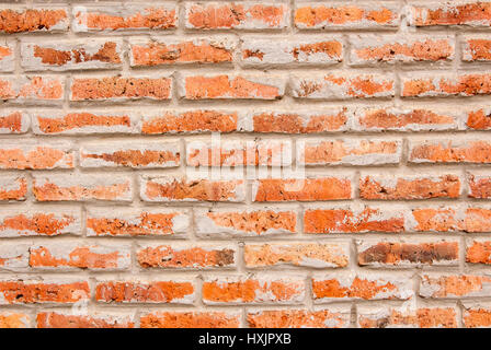 Brick Wall - Details of an old brick wall in Manta - Ecuador - Stock Photo