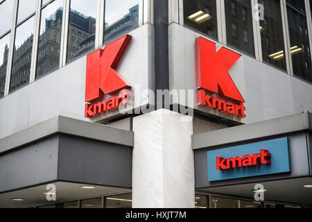 A KMart store in New York on Friday, March 24, 2017. The embattled Sears Holdings, the owner of KMart and Sears, - Stock Photo