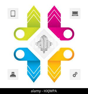 Business data concept.Modern infographics illustration.Creative vector origami design, eps10. - Stock Photo