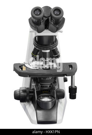 microscope isolated on white background with clipping path - Stock Photo