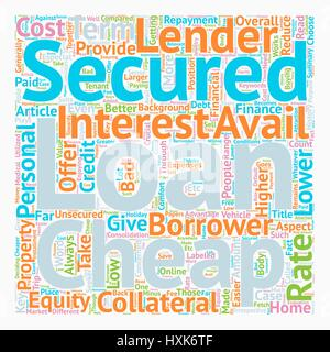 Take Finance at your Terms at Cheap Secured Personal Loan text background wordcloud concept - Stock Photo